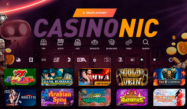 Play with real money in online casino Casinonic